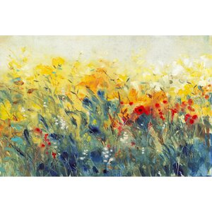 Flowers Sway I Painting Print on Wrapped Canvas by Marmont Hill