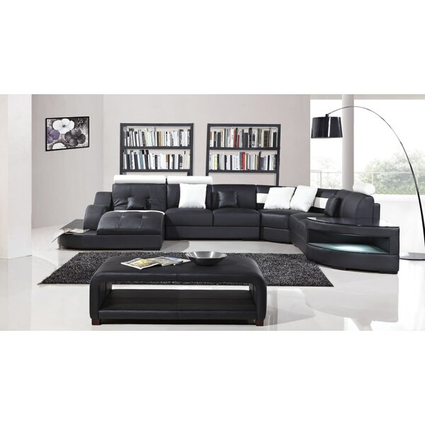 Looking for Deanne Leather Modular Sectional By Orren Ellis ...