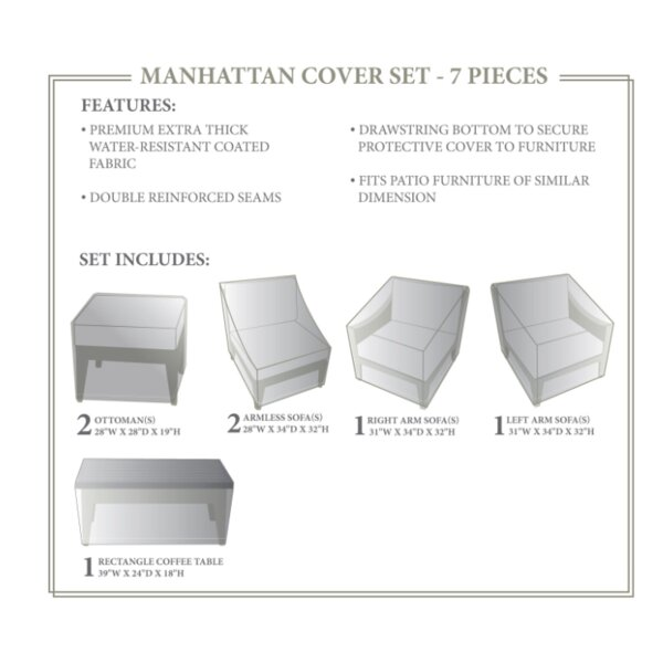 Manhattan Winter 7 Piece Cover Set by TK Classics
