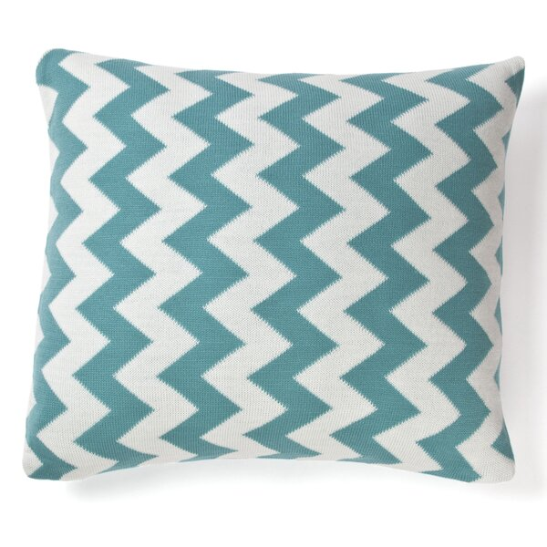 Zig Zag Indoor/Outdoor Cotton Throw Pillow By Amity Home