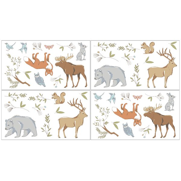 Woodland Toile Collection Wall Decal (Set of 4) by Sweet Jojo Designs