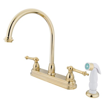 Tremont Double Handle Kitchen Faucet with Side Spray by Kingston Brass