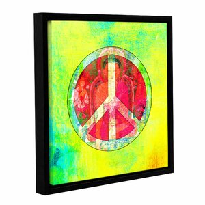 Peace Sign by Elena Ray Framed Graphic Art on Wrapped Canvas by ArtWall
