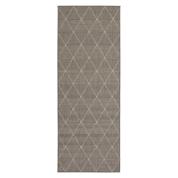 Goodhue Contemporary Trellis Design Gray Outdoor/Indoor Area Rug by Gracie Oaks