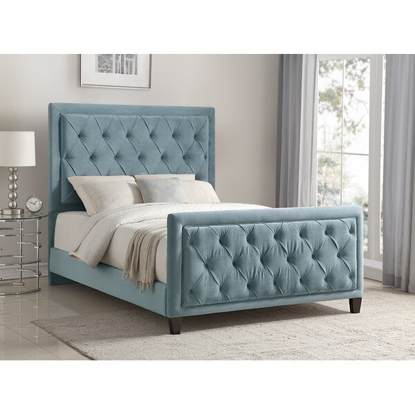 Leonia Bella Ocean Upholstered Standard Bed by Everly Quinn