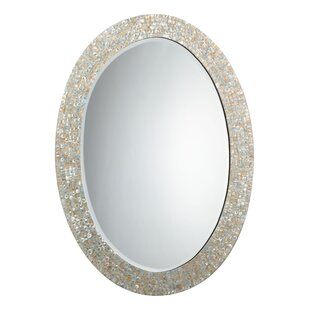 Highland Dunes Elsie Oval Mother of Pearl Mirror