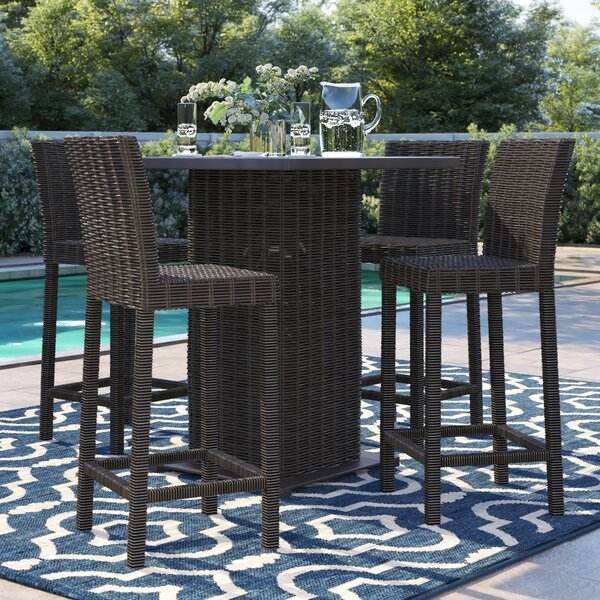 Fairfield 5 Piece Bar Height Dining Set by Sol 72 Outdoor