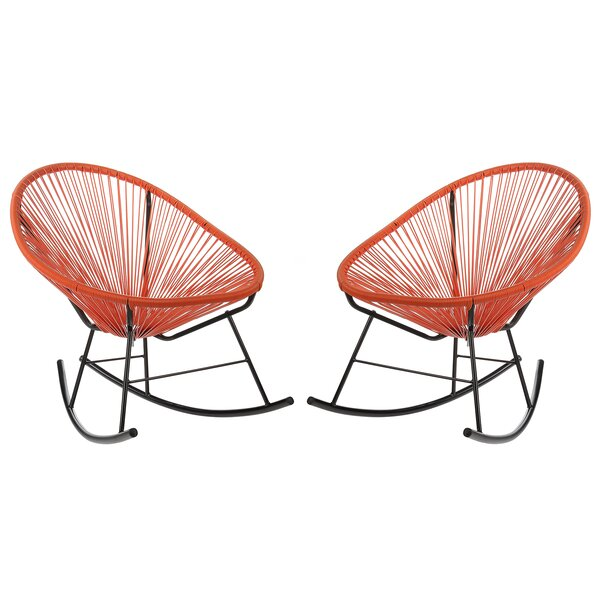 Sunnyside Woven Patio Chair (Set of 2) by Bungalow Rose
