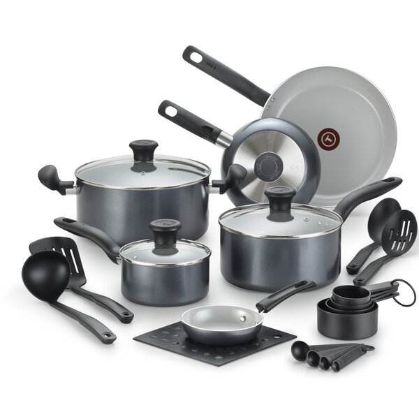 16 Piece Non-Stick Cookware Set by T-fal