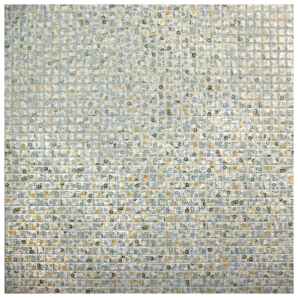 Summer Flora 0.75 x 0.75 Porcelain Mosaic Tile in Blue/Yellow by EliteTile