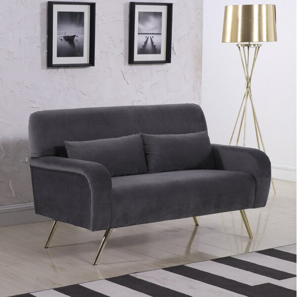 Internet Purchase SanderSon Loveseat by Everly Quinn by Everly Quinn