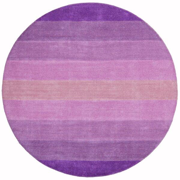 Degarmo Purple Stripes Area Rug by Mercury Row