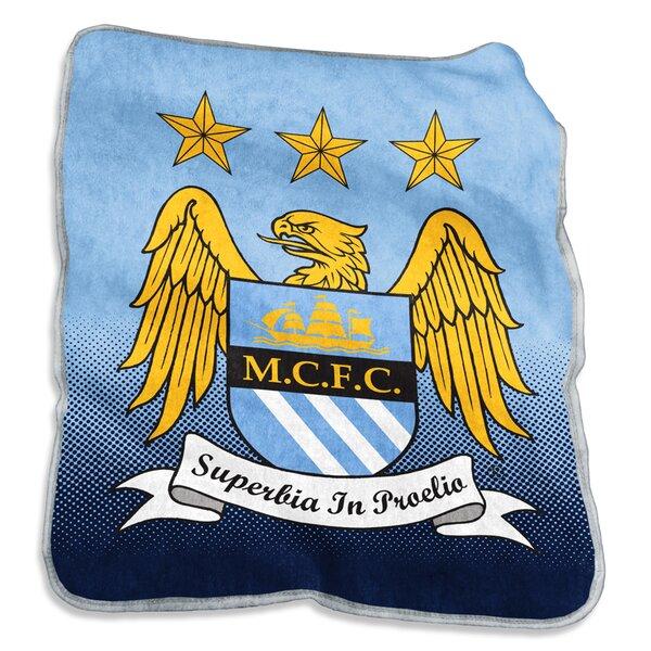 Manchester City Raschel Throw by Logo Brands