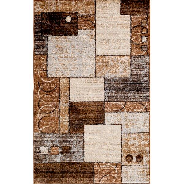 Haslett Brown Area Rug by Ebern Designs