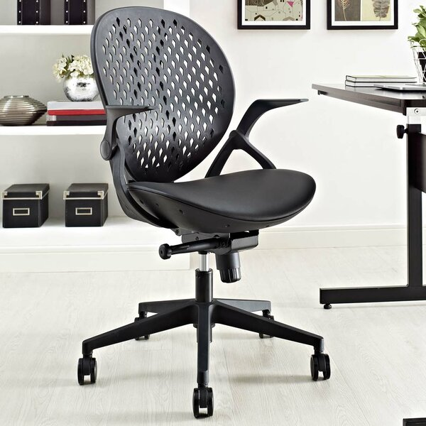 Adal Vinyl 21.5 Mesh Desk Chair by Ebern Designs