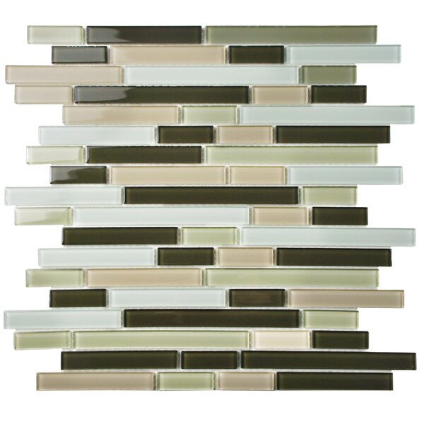 Ambit Random Sized Glass Mosaic Tile in Chapparal by EliteTile
