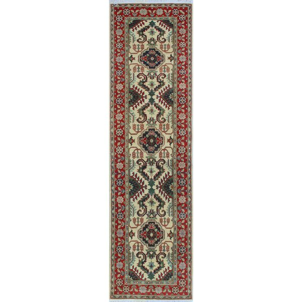 One-of-a-Kind Aquino Hand-Knotted Ivory Area Rug by Isabelline