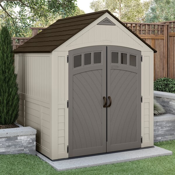 Covington 7 ft. 5 in. W x 7 ft. 5 in. D Metal Storage Shed by Suncast