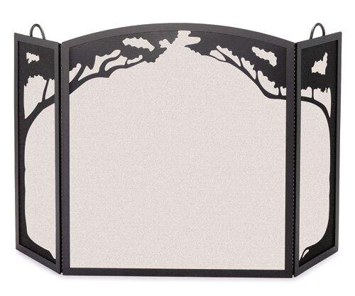 Grand Oak 3 Panel Steel Fireplace Screen By Pilgrim Hearth