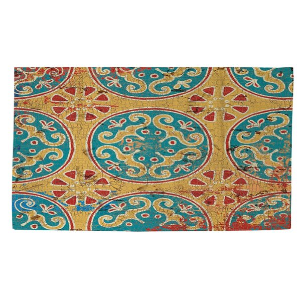 Theo Rust/Teal Area Rug by World Menagerie