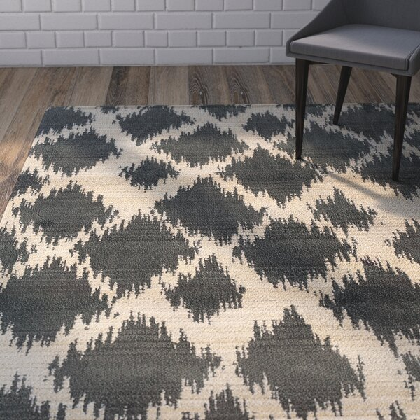 Feltner Ivory/Black Area Rug by Brayden Studio