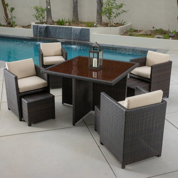 Marmont 5 Piece Seating Group with Cushions by Home Loft Concepts