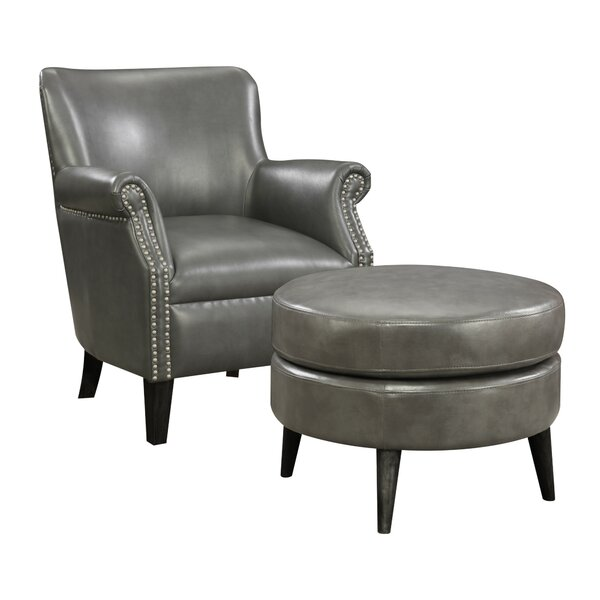 Keeter Armchair and Ottoman by Andover Mills