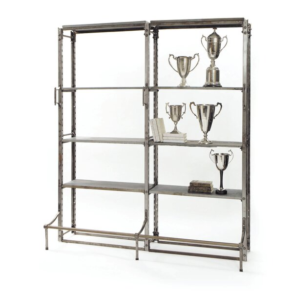 Ashland Double Warehouse Etagere Bookcase by 17 Stories