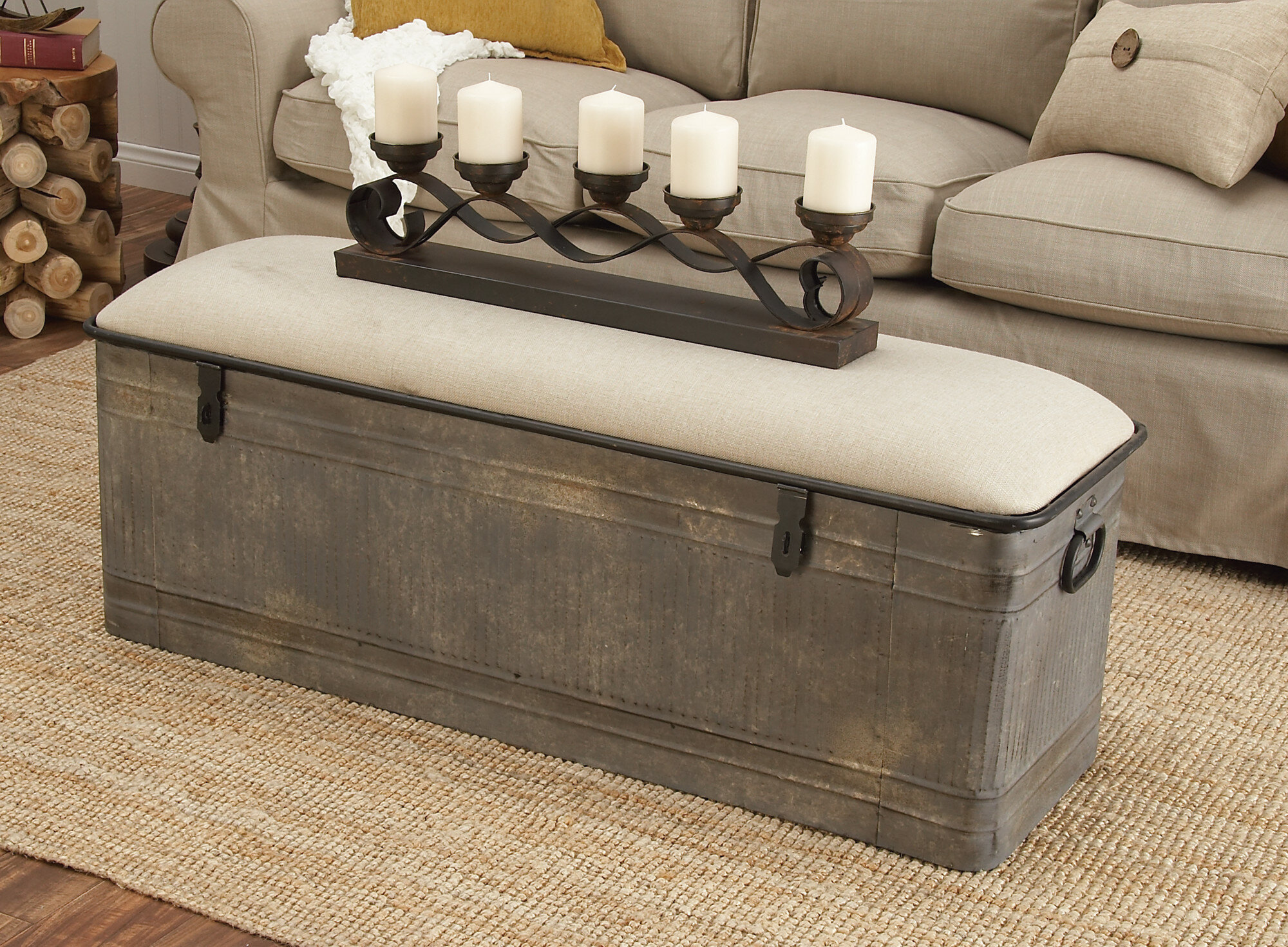 Outstanding Dublin Upholstered Storage Bench Creativecarmelina Interior Chair Design Creativecarmelinacom