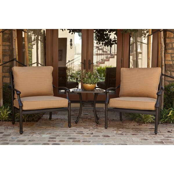 Burrage 3 Piece Conversation Set with Cushions by Fleur De Lis Living