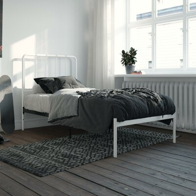 Mystic Platform Bed Hashtag Home Color: White, Size: Twin