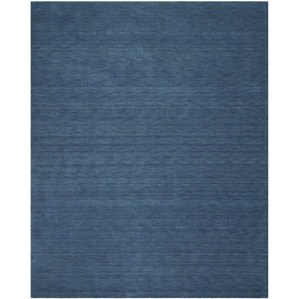 Lynndale Hand Woven Wool Blue Area Rug by Safavieh