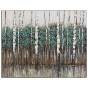 'Edge of the Forest' Painting Print on Canvas by Latitude Run
