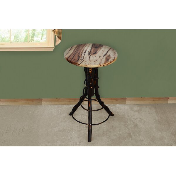 Brammer Solid Wood Pedestal End Table By Millwood Pines