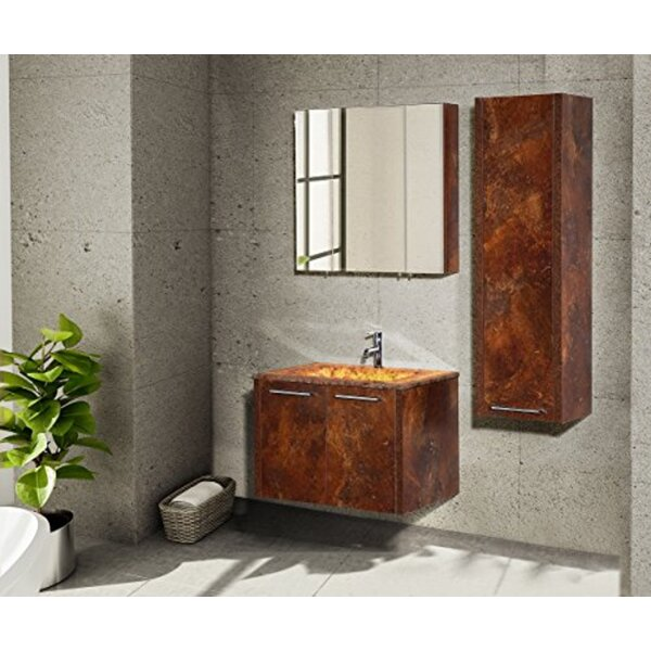 Cordle 32 Wall-Mounted Single Bathroom Vanity Set with Mirror (Set of 3)
