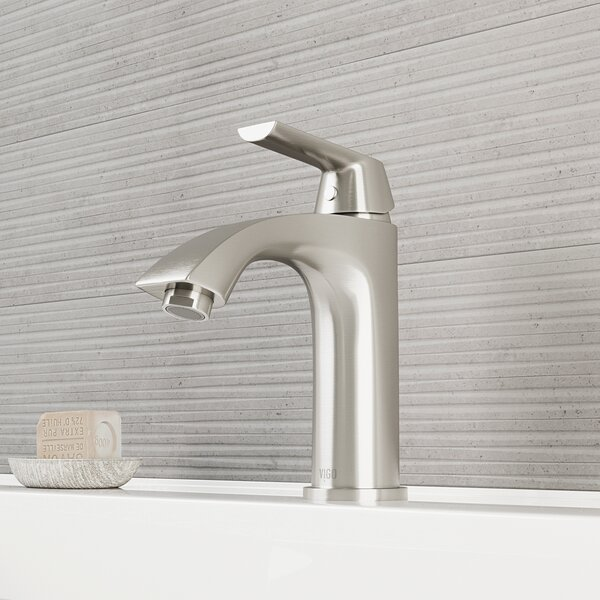 Penela Single Hole Bathroom Faucet with Optional D