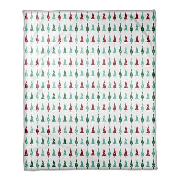 Carey Simple Christmas Trees Blanket by The Holiday Aisle