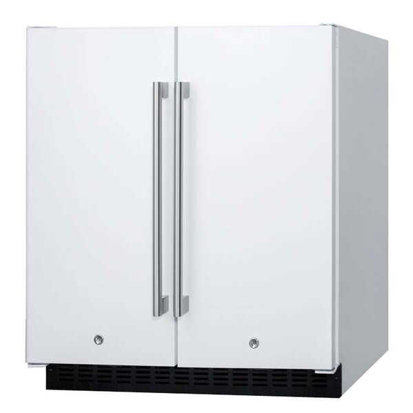 Summit 29.5-inch 5.4 cu.ft. Convertible Undercounter Refrigerator with Freezer by Summit Appliance
