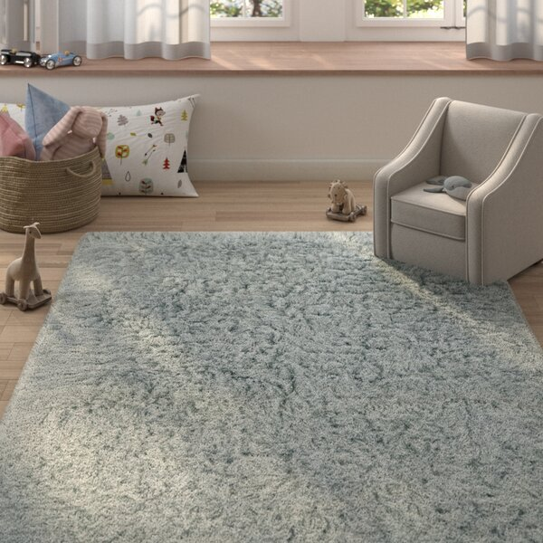 Ducharme Flokati Wool Light Gray Area Rug by Harriet Bee