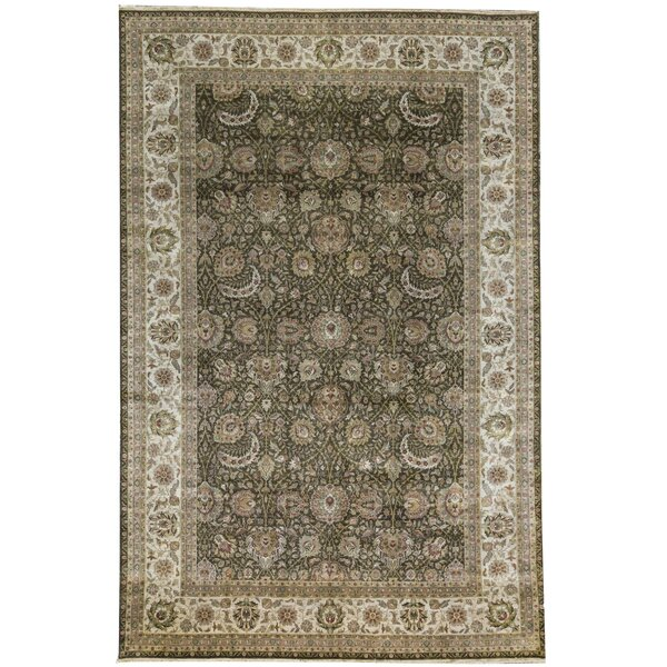 One-of-a-Kind Aberdeen Hand-Knotted Green 11' x 16'6 Wool Area Rug