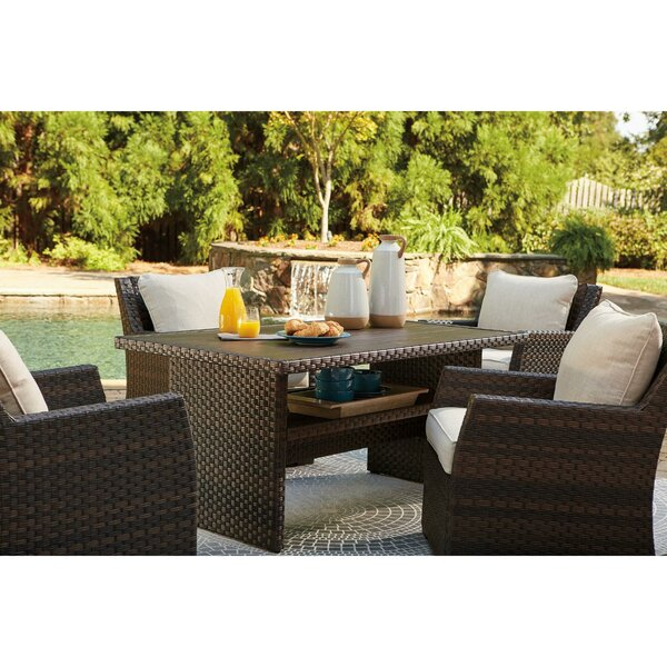 Lovejoy 5 Piece Dining Set with Cushions by Bay Isle Home
