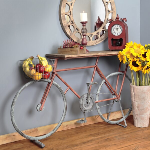 Winslow Bicycle Console Table by Gracie Oaks