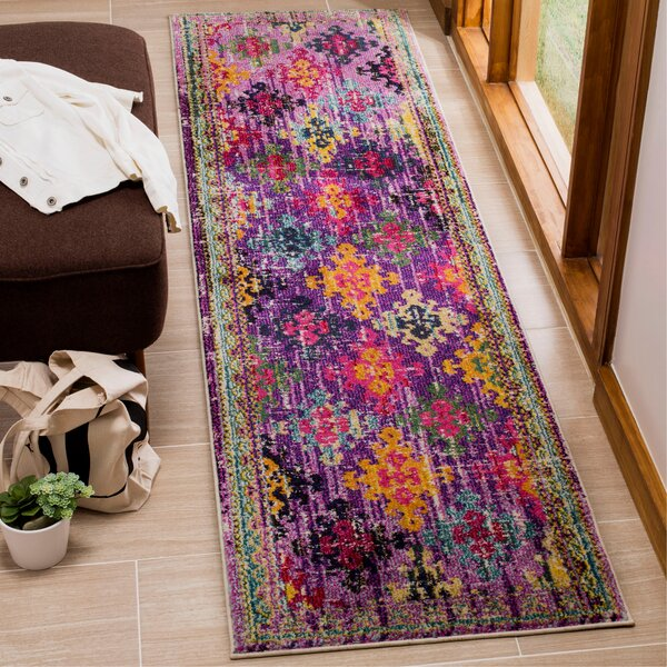 Chana Purple/Pink/Yellow Area Rug by Bungalow Rose
