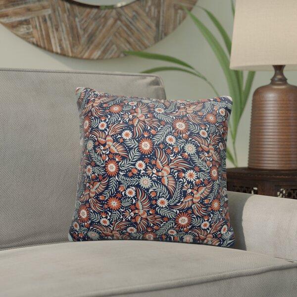 Glendora Cotton Indoor / Outdoor Floral Throw Pillow