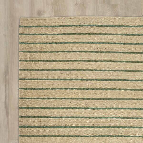 Laflin Hand-Woven Green/Wheat Area Rug by Kathy Ireland Home