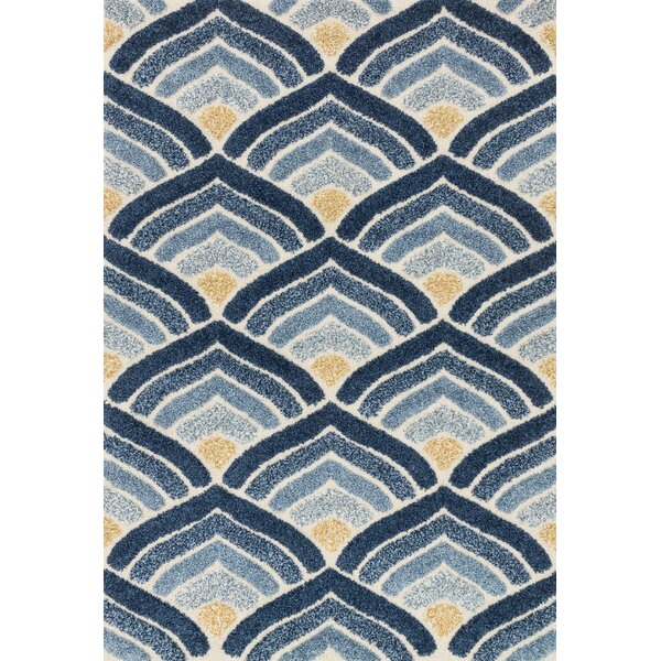 Dania Blue/Ivory Area Rug by Wrought Studio