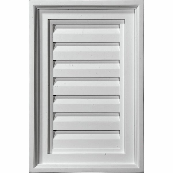 26H x 12W Vertical Gable Vent Louver by Ekena Millwork