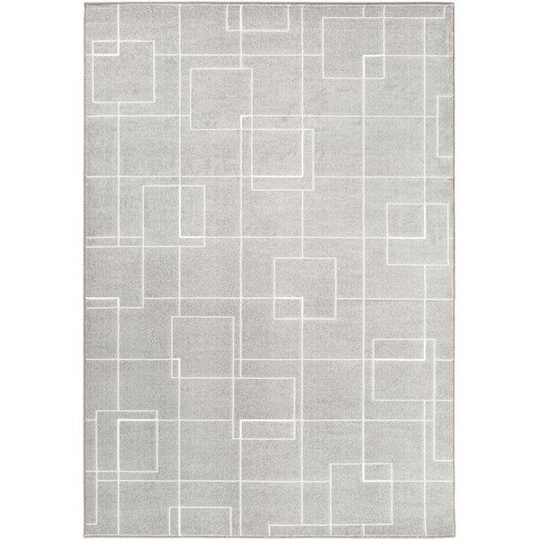 Chacon Modern Medium Gray/Light Gray Area Rug by Corrigan Studio