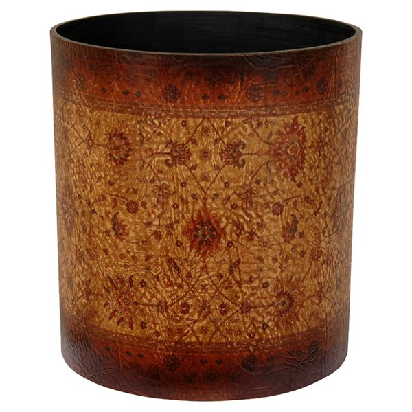 Clair Faux Leather Waste Basket by World Menagerie
