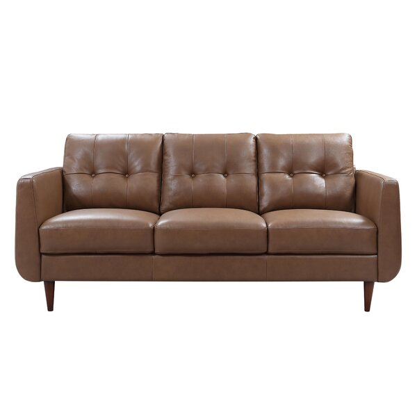 Chewton Mendip Leather Sofa By Latitude Run
